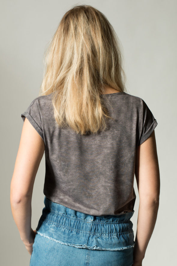 Rückansicht T-shirt Rapture unifarben grau