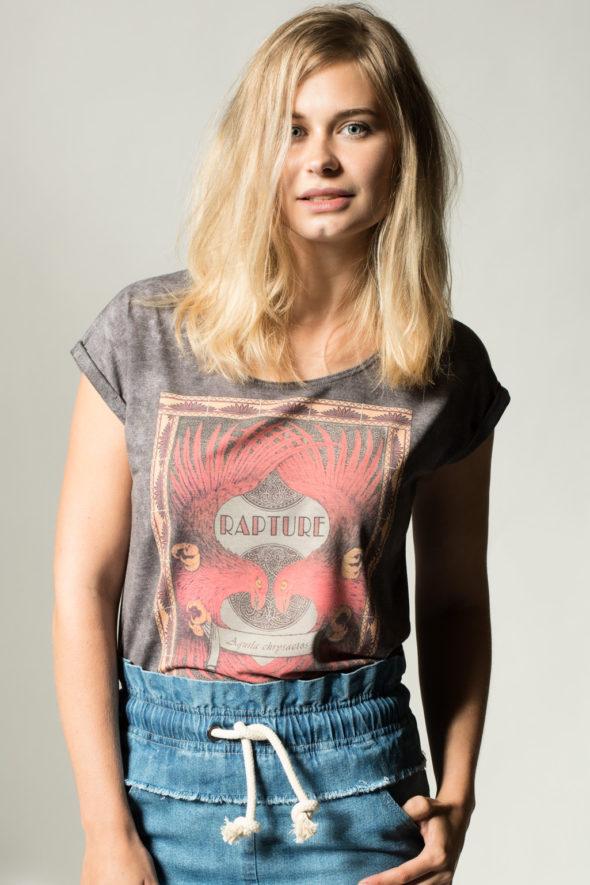 Frontansicht RobeCode T-Shirt Rapture mit Adlermotiv